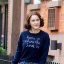 Rachel Brosnahan – 'The Marvelous Mrs. Maisel' Filming Rehearsals in Chelsea, New York - 454 x 618