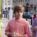 Taking a stroll with his brother, Cole Sprouse