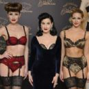 Dita Von Teese attends a photocall to launch her new lingerie range at Debenhams on November 28, 2012 in London, England - 454 x 302