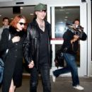 Marilyn Manson and Lindsay Usich arrive at Lax - 454 x 318