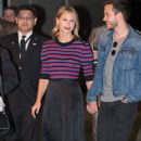 Melissa Benoist and Chris Wood  at 'Jimmy Kimmel Live' - 377 x 600