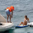 Ann-Kathrin Brommel and Anna Sharypova in Bikini on holiday in Mallorca - 454 x 310