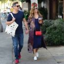 Jessica Alba and Cash Warren out shoppingin Venice Beach, CA - 454 x 322