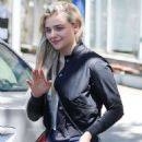 Chloe Moretz in Shorts Leaves yoga class in West Hollywood - 454 x 681