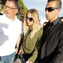Ashley Benson in Leather Leaving the Martinez Beach in Cannes