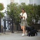 Pippa Middleton – Walking her dogs in London - 454 x 303