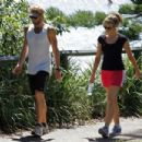 Delta Goodrem Walks Through The Botanic Gardens, 2009-03-20