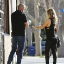 Actor Dominic Purcell cozies up to a mystery girl after enjoying lunch with her at Granville in Studio City, California on January 14, 2015 - 454 x 534