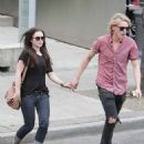 Lilly Collins and Jamie Campbell Bower out for a stroll in Toronto, Canada (July 9)