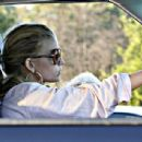 Jessica Simpson Driving Along In Her SUV, Los Angeles, 2008-07-26