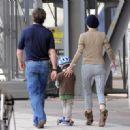 Eva Herzigova And Her Boyfriend Gregorio Marsiaj Take Their Son George, April 19 2010