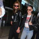 Kristen Stewart and Stella Maxwell at Charles de Gaulle airport in Paris - 454 x 746