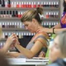 Lori Loughlin goes to a nail salon in Beverly Hills