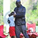 Seal is seen watching his kids Leni, Henry and Johan play soccer in Brentwood, California on January 31, 2015 - 426 x 600