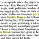 Jerry Brown and Candice Bergen   Excerpt from the Google Books - 454 x 202