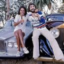 Alice Cooper + Keith Moon sharing a cocktail on the hoods of their Rolls-Royces on Mulholland Drive, Los Angeles, June 1976 - 454 x 335