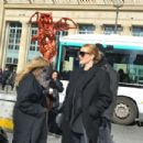 Rosie Huntington Whiteley – Arriving at Gare du Nord in Paris - 454 x 303
