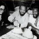 Jan,Berry Gordy & Marvin at his 40th Birthday Party in 1979