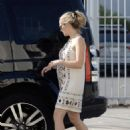 Teresa Palmer in Mini Dress – Out in Hollywood - 454 x 627