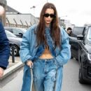 Bella Hadid – Arriving at Balenciaga Fashion Show in Paris
