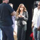 Dakota Johnson – Arrives at the Microsoft Theater in LA