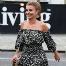 Coleen Rooney in Mini Dress – Night Out at Menagerie in Manchester - 454 x 897