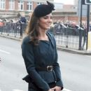 Catherine Duchess Of Cambridge, (Kate Middleton) arrive at Leicester City Station as part of The Queen's Diamond Jubilee Tour on March 8, 2012 in London, UK