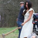 Selena Gomez On Set Of In Dubious Battle In Atlanta
