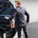 Justin Timberlake On The Set Of 'The Social Network'