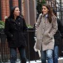 Katie Holmes walks with her friend around Manhattan, New York's West Village neighborhood on January 10, 2017 - 450 x 600