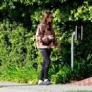 Lily Collins – Morning walk in Beverly Hills