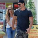 Sofia Vergara and her boyfriend Joe Manganiello out to eat at Burger Lounge in Beverly Hills, California on September 7, 2014