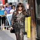 Evangeline Lilly – Arrives at Jimmy Kimmel Live in Hollywood