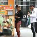 Nina Agdal Street Style – Out in NYC 09/28/2016