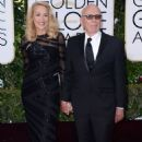 Still going strong! Jerry Hall, 59, hits the Golden Globes red carpet on the arm of 84-year-old Rupert Murdoch - three months after it was revealed they are dating - 11 Jan 2016 - 454 x 677