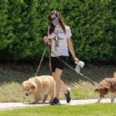 Aubrey Plaza – Enjoys a walk with her dogs in Los Feliz