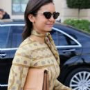 Nina Dobrev – Arrives at the Ritz hotel in Paris