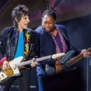 Ronnie Wood of the Rolling Stones performs at the Indianapolis Motor Speedway on July 4, 2015 in Indianapolis, Indiana.