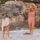 Hofit Golan in Bikini on the beach in Tulum - 454 x 303
