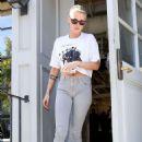 Kristen Stewart Leaves Gracias Madre Restaurant in West Hollywood