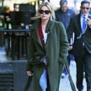 Ashley Benson in Long Coat – Out and about in NYC