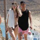Gigi Hadid in Bikini on the beach in Mykonos