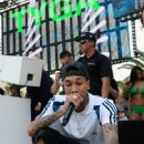 Tyga performs during DAYLIGHT Beach Club's grand opening weekend at the Mandalay Bay Resort and Casino on March 26, 2017 in Las Vegas, Nevada - 419 x 600