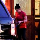 Ariel Winter visits a veterinary's office in Los Angeles