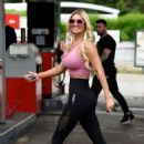 Christine McGuinness at Petrol Station in Cheshire