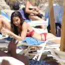 Adriana Lima- Mykonos beach look