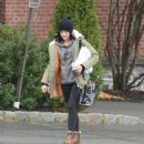 Lucy Hale – Walks her dog in Upstate New York