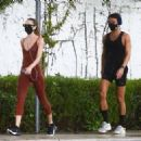 Candice Swanepoel – Jogging candids in Miami