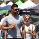 Brittany Snow and her boyfriend at Farmer's Market in Studio City