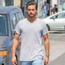 Scott Disick is spotted out running errands in West Hollywood, California on July 1st, 2016